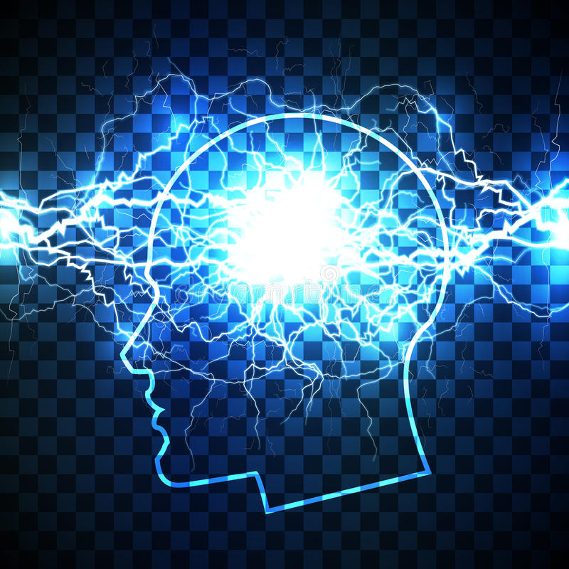 Poder do conceito da mente humana ilustração do vetor