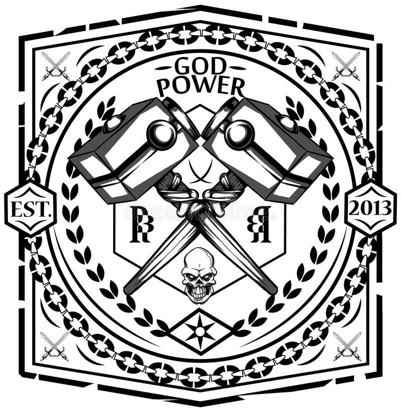 Poder do deus ilustração royalty free