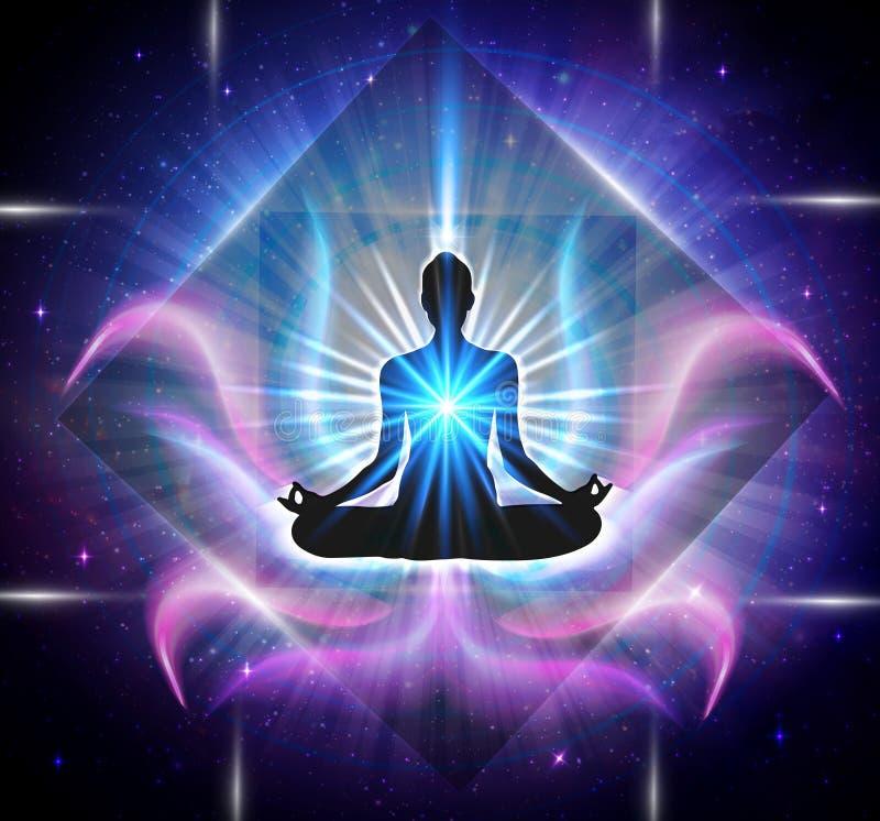 Poder espiritual de la energía ilustración del vector