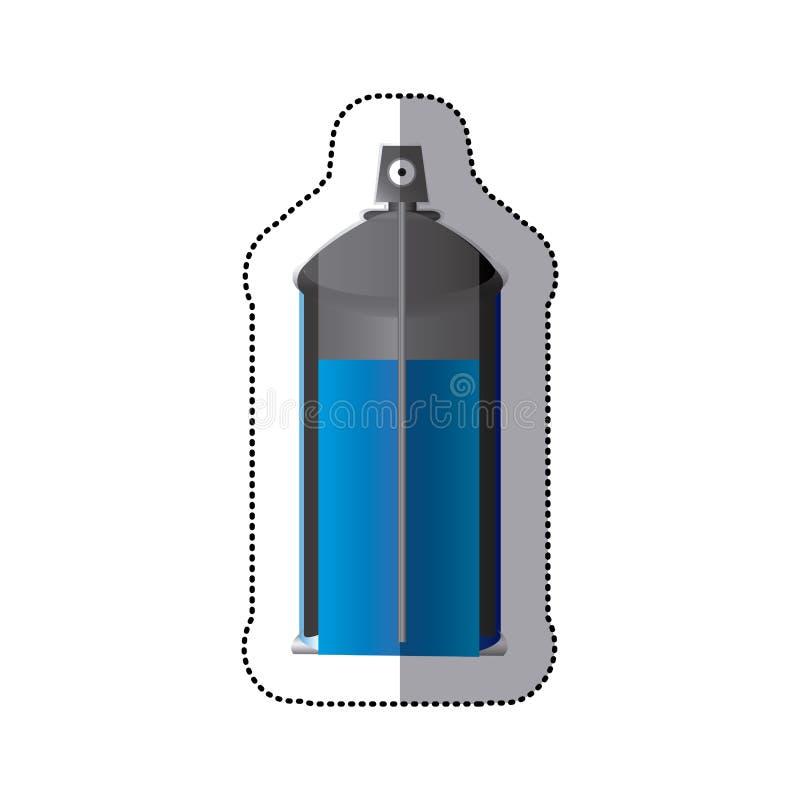poder interna colorida de la botella del espray de aerosol de la opinión de la etiqueta engomada ilustración del vector