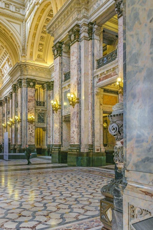 Poder legislativo Salão interior, Montevideo, Uruguai imagem de stock royalty free
