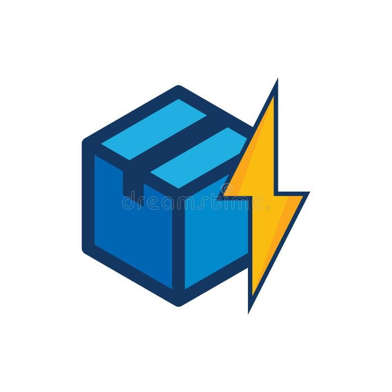 Poder Logo Icon Design de la caja ilustración del vector