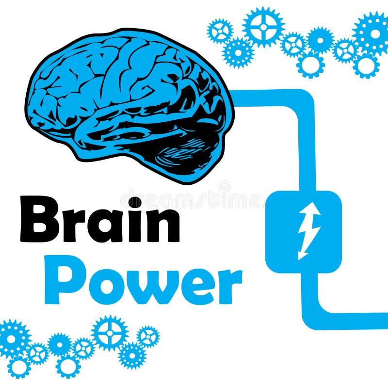 Poder mental stock de ilustración