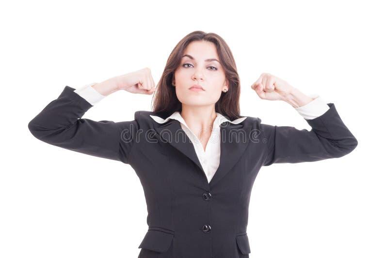 Poder mostrando feminista forte, independente e bonito foto de stock