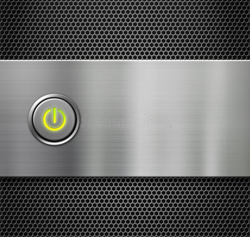 Download Poder O Tecla De Partida En La Placa De Metal Imagen de archivo - Imagen de energía, diseño: 41915841