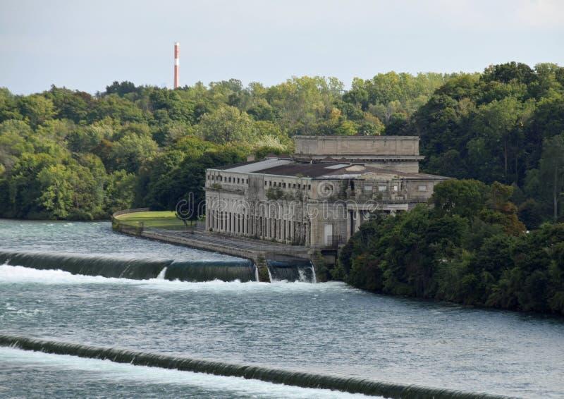 Poder que gera a estação Niagara Falls Ontário fotos de stock royalty free