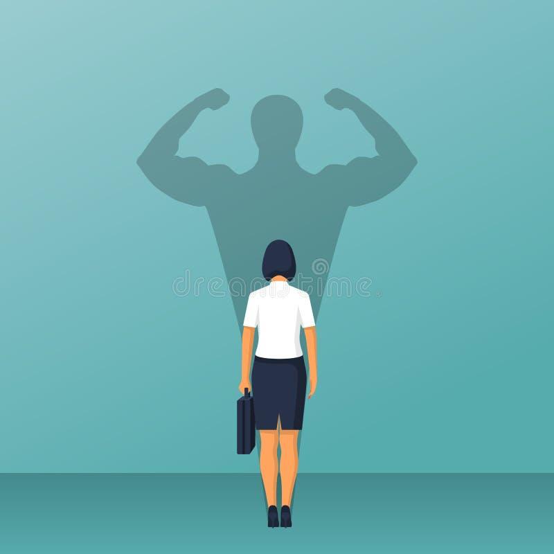 Poder seguro Mulher de negócios ilustração stock
