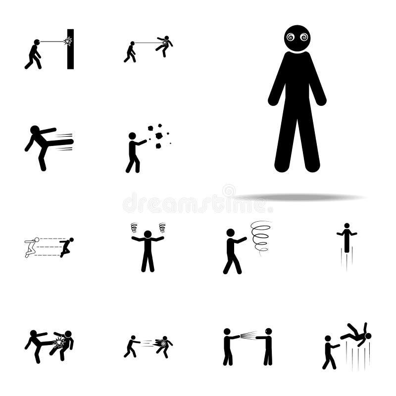 poder super, ícone da hipnose grupo universal dos ícones poderosos humanos especiais para a Web e o móbil ilustração stock