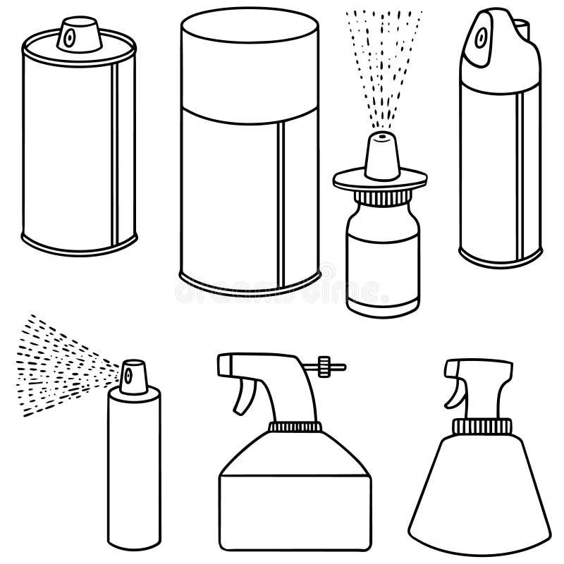 Poder y botella de espray ilustración del vector