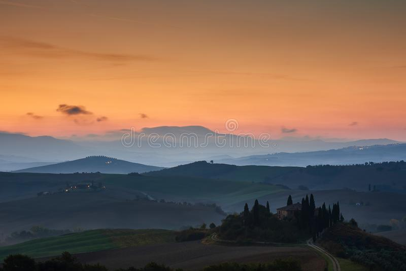 Podere Belvedere stock photography