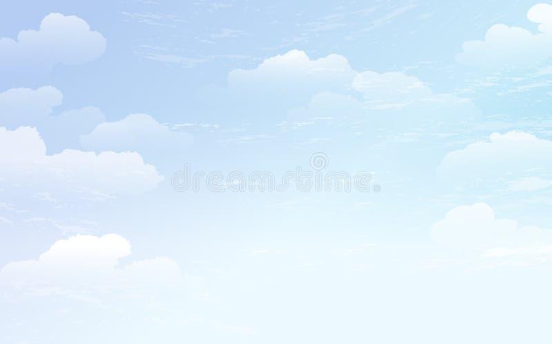 Podesłania niebieskiego nieba tło ilustracja wektor