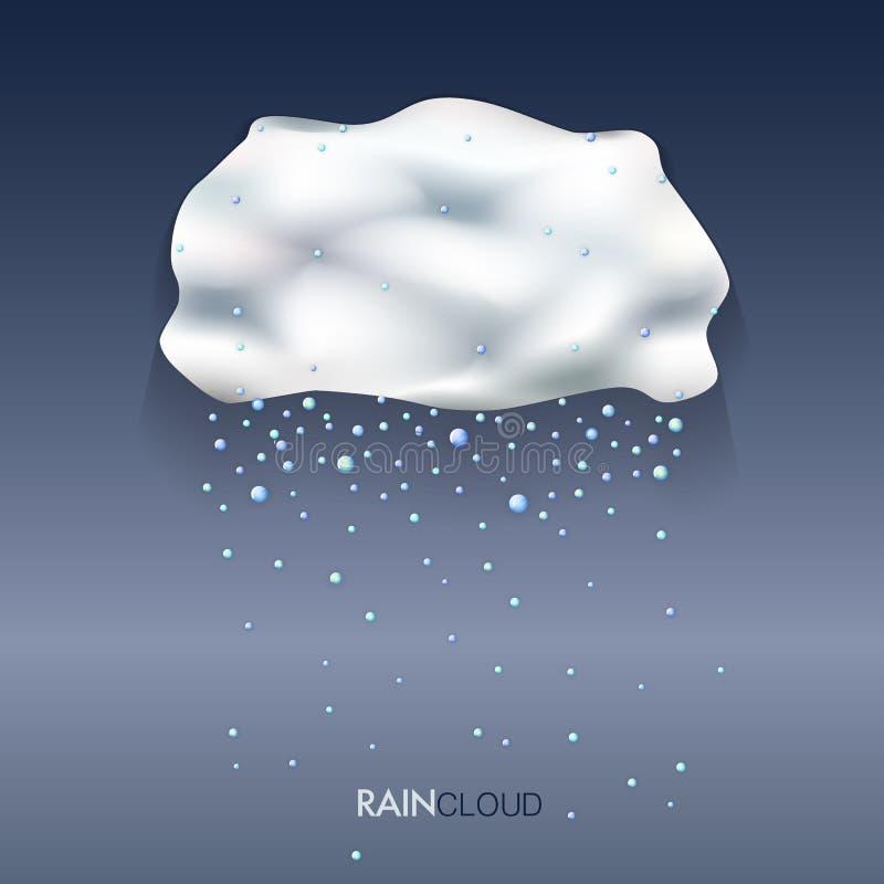 Podeszczowa chmura z kroplami ilustracji