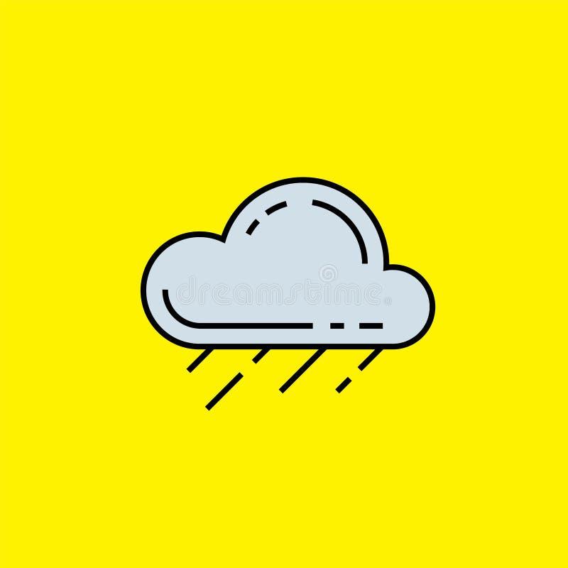Podeszczowej chmury linii ikona royalty ilustracja