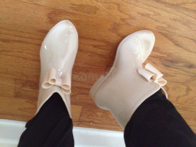 Podeszczowi buty zdjęcie stock