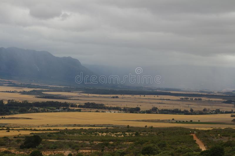 Podeszczowy krajobraz obrazy stock