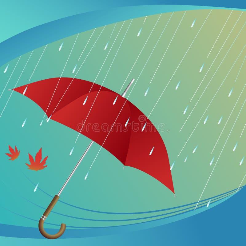 podeszczowy parasol ilustracja wektor