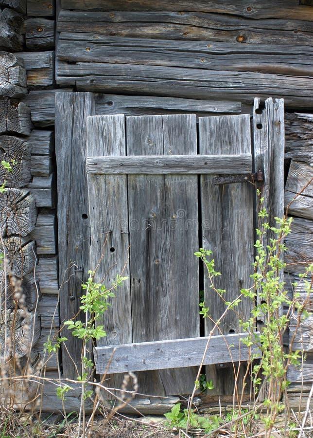 Podgniły drewniany drzwi zdjęcie royalty free