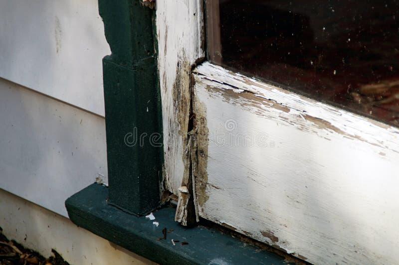 Podgniły drzwiowy szczegół obrazy royalty free