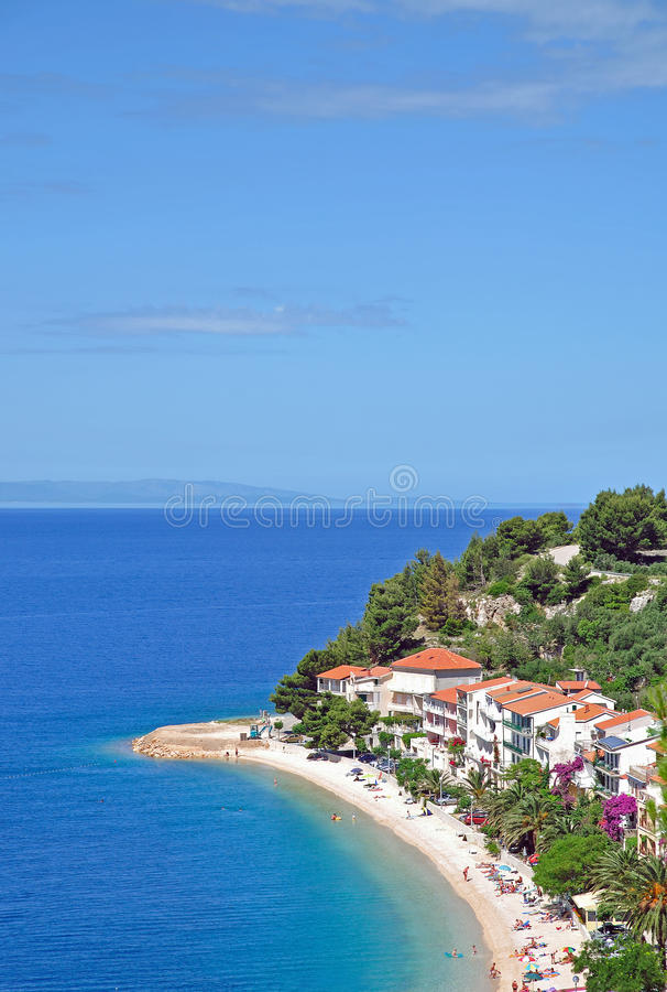 Podgora, Makarska Riviera, Dalmatien, Kroatien lizenzfreie stockfotos
