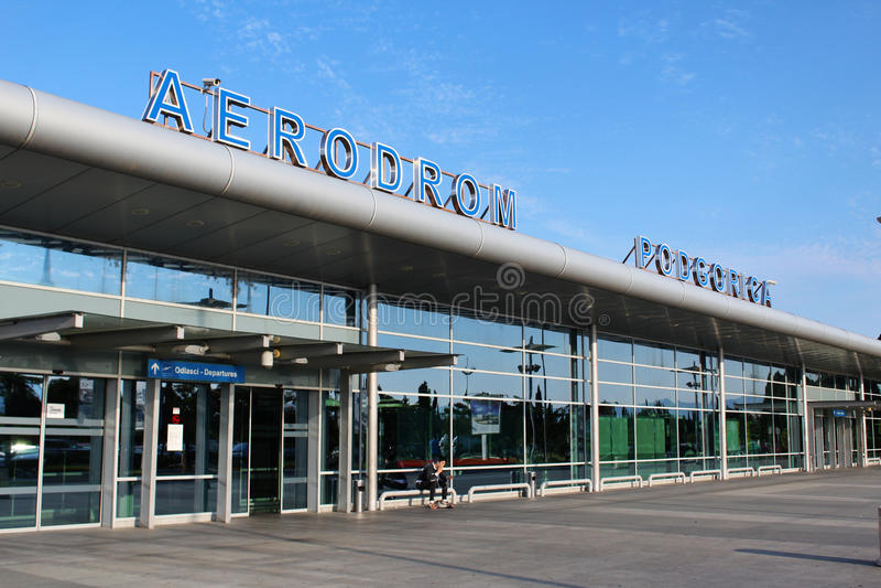 Podgorica lotnisko zdjęcia stock
