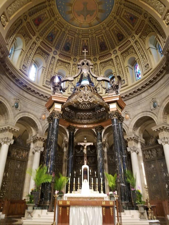 Podio de la catedral fotos de archivo
