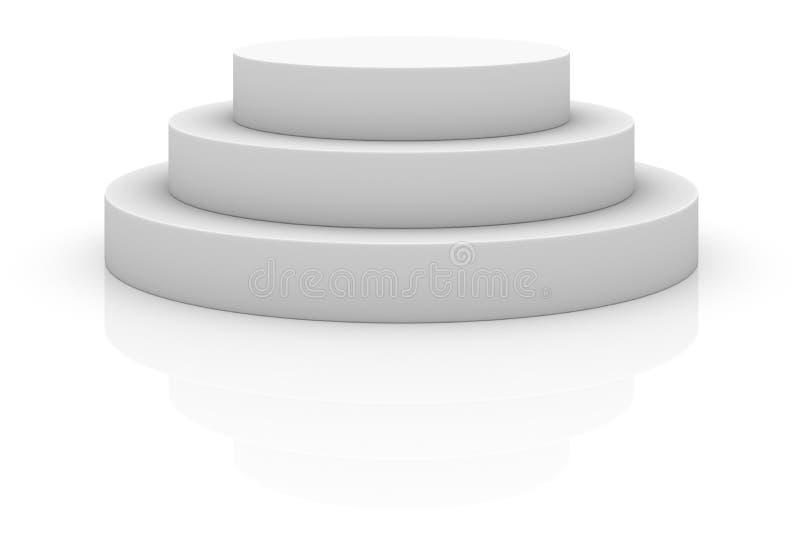 Podio redondo de la etapa, pedestal stock de ilustración