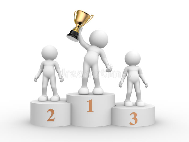 Podium royalty free illustration
