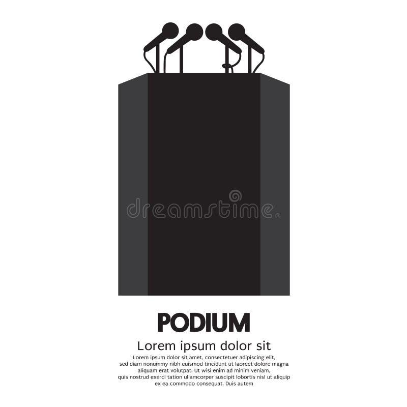 podium ilustração royalty free