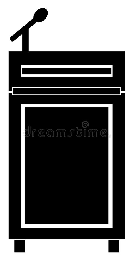 Podium vector illustratie