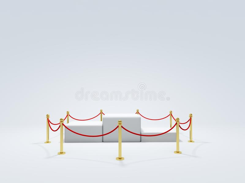 Download Podium with barrier stock illustration. Image of exhibition - 12992193