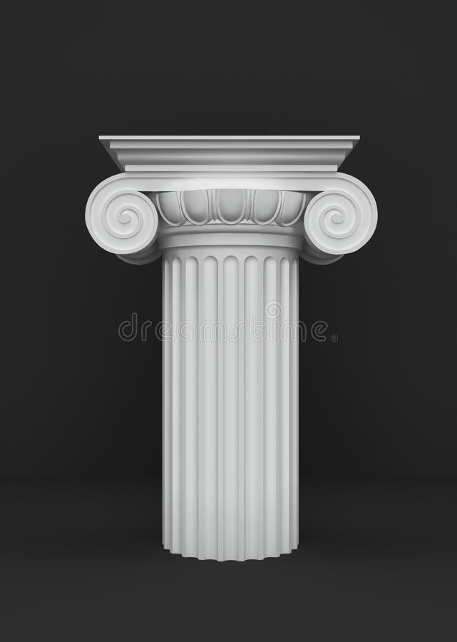 Podium Of The Classical Column Capitals Royalty Free Stock Photos