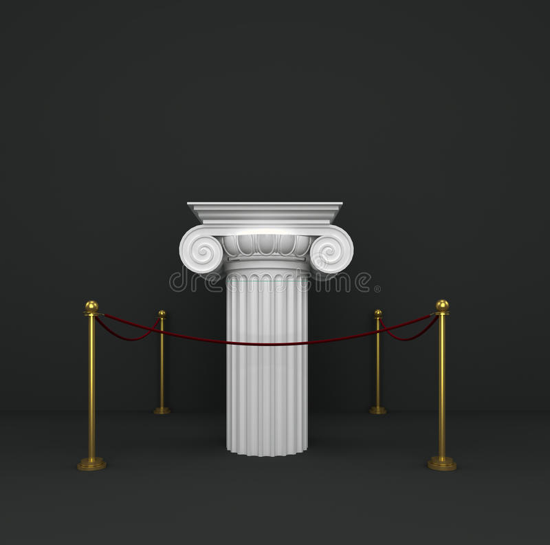 Download Podium Of The Classical Column Capitals With Barri Stock Illustration - Image: 25185231