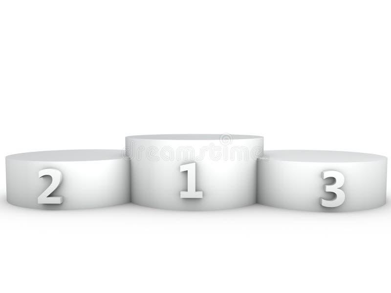 podium 3d rinden en el fondo blanco foto de archivo libre de regalías
