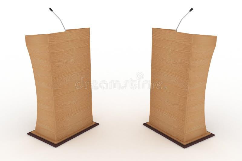 Podium dla debat royalty ilustracja