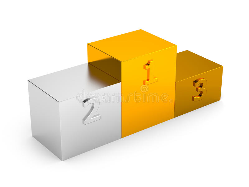 Download Podium With First, Second And Third Places Stock Illustration - Image: 25594989