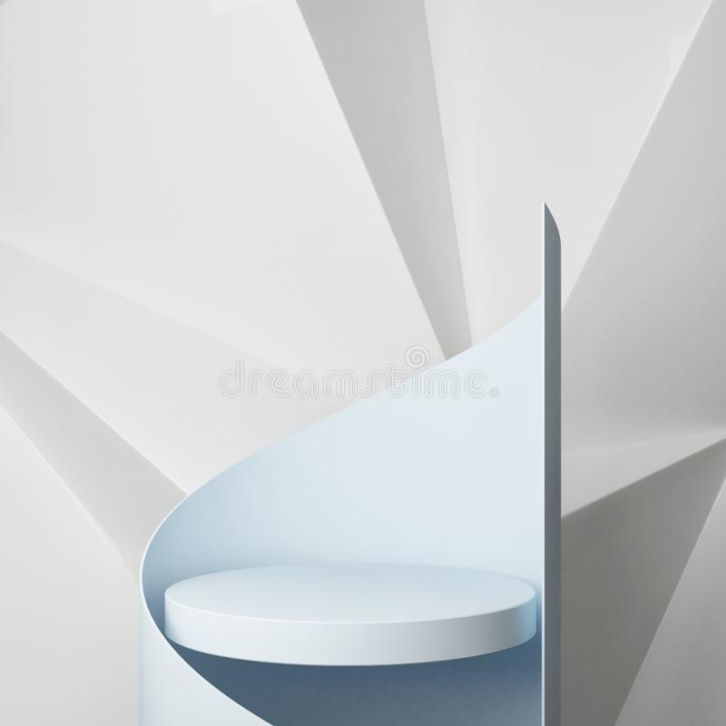 Podium with hipster abstract background composition ,. 3d render, 3d illustration royalty free illustration