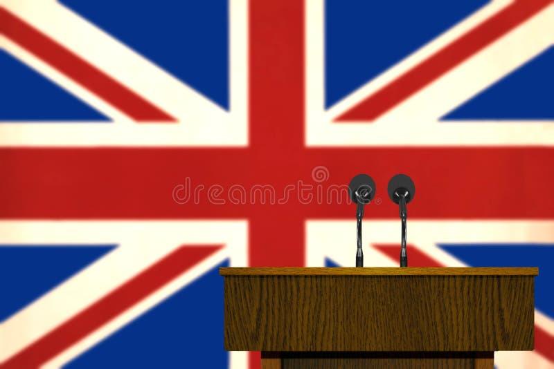 Podium i Brytyjski flaga ilustracji