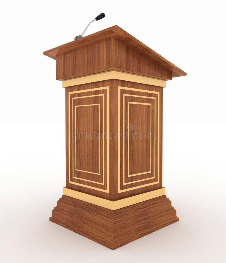 Podium i mikrofon ilustracja wektor