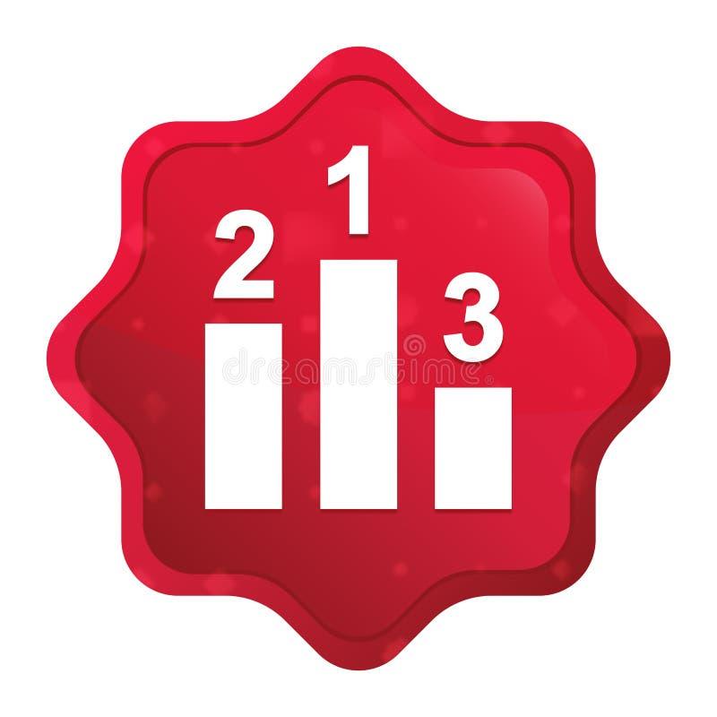 Podium ikony starburst majcheru mglisty r??any czerwony guzik ilustracji