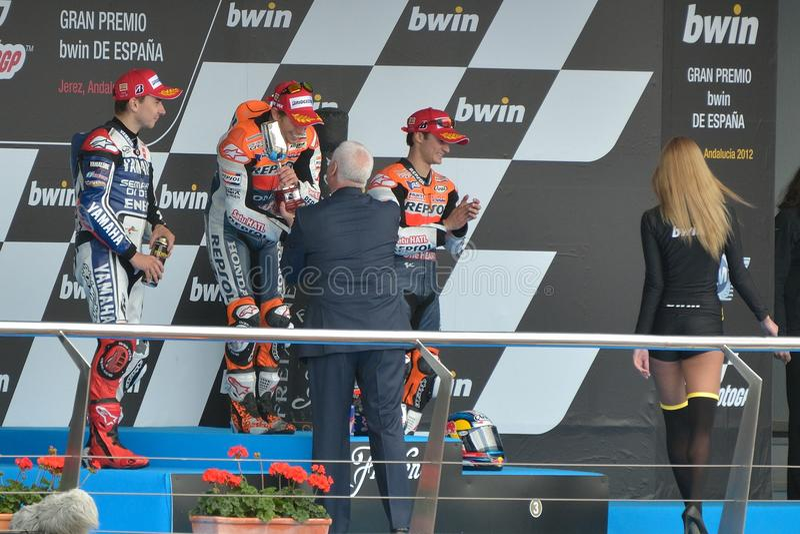 Download Podium Of MotoGP Gran Prix Oj Jerez (Spain) Editorial Stock Image - Image: 24640379