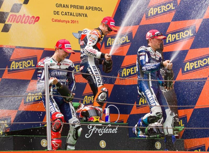 Podium Of MotoGP Grand Prix Of Catalonia Editorial Photo