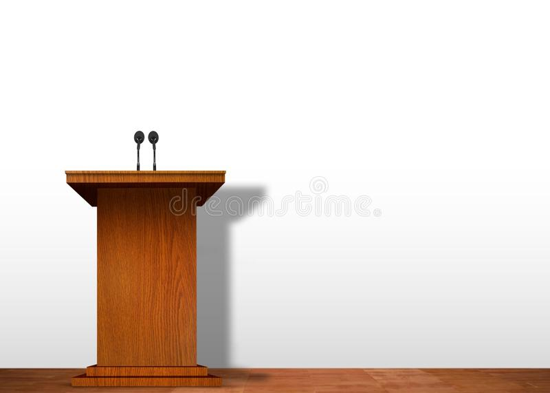 Podium na scenie ilustracja wektor