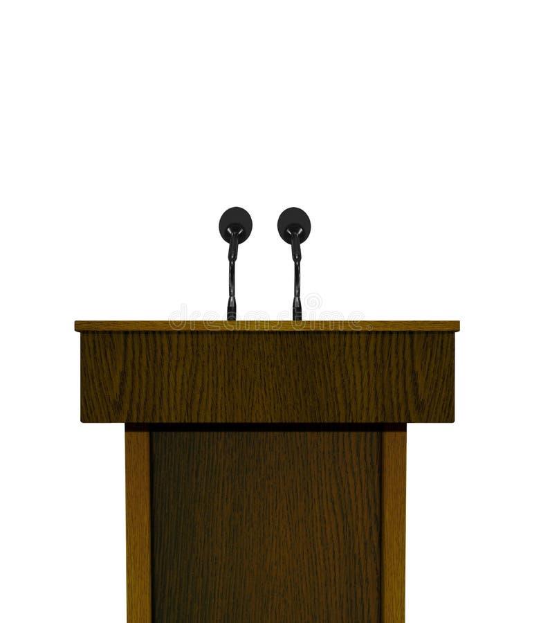 Podium och mikrofon vektor illustrationer
