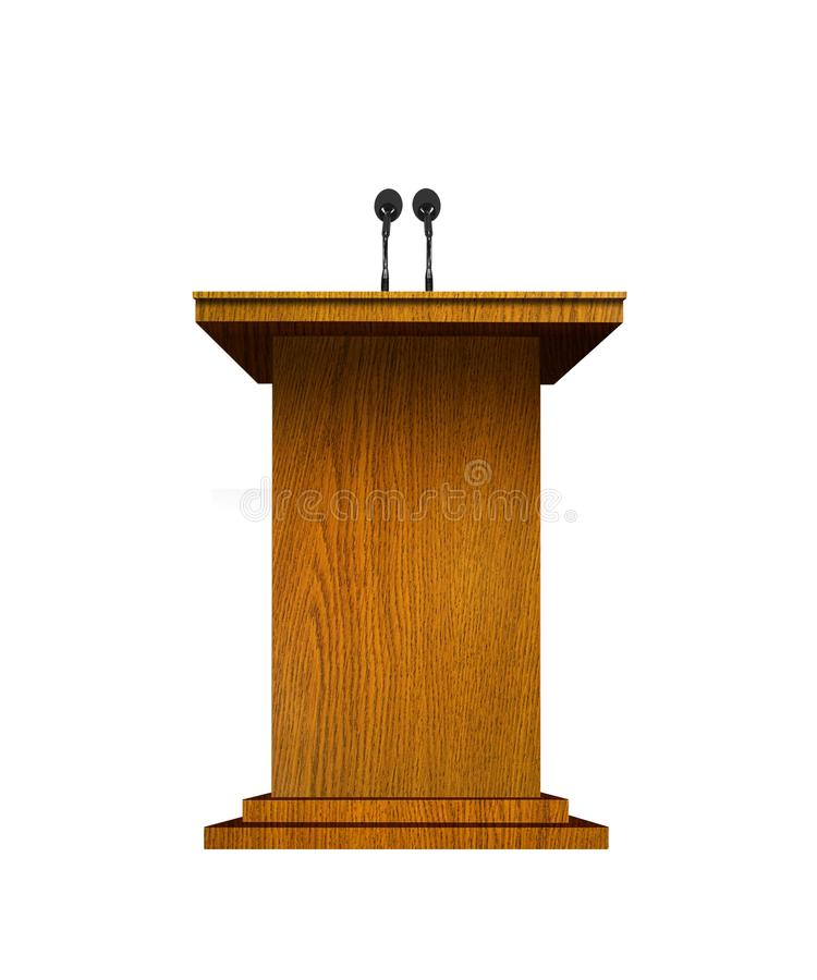 Podium och mikrofoner royaltyfri illustrationer