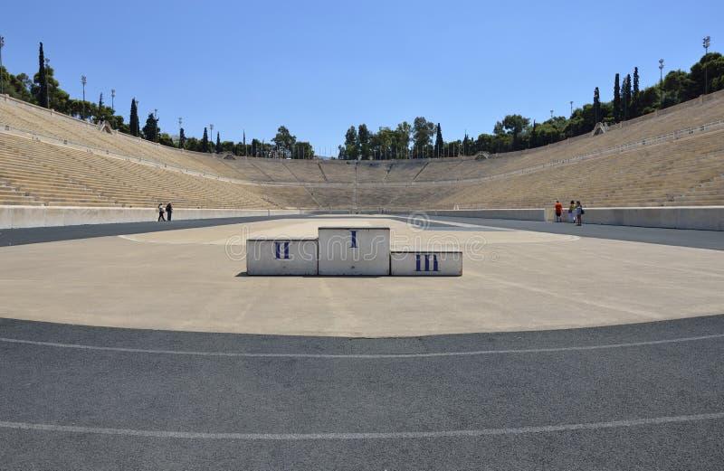 Podium, Panathenaic-Stadion stockbilder