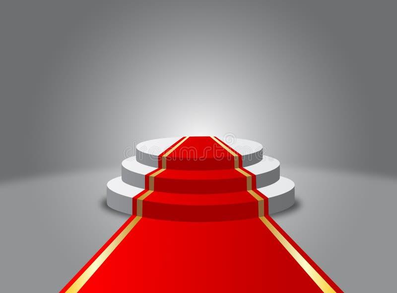 Podium.Pedestal.Vector. royalty illustrazione gratis