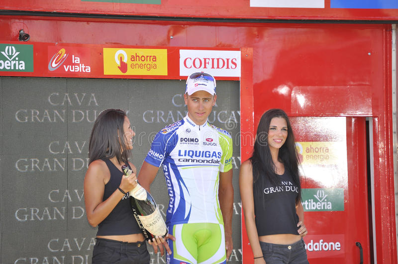 Podium stage 6 of the Tour of spain 2011
