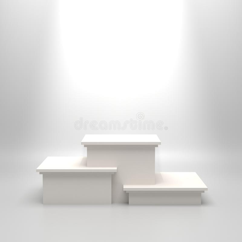 Podiume blanc vide illustration libre de droits