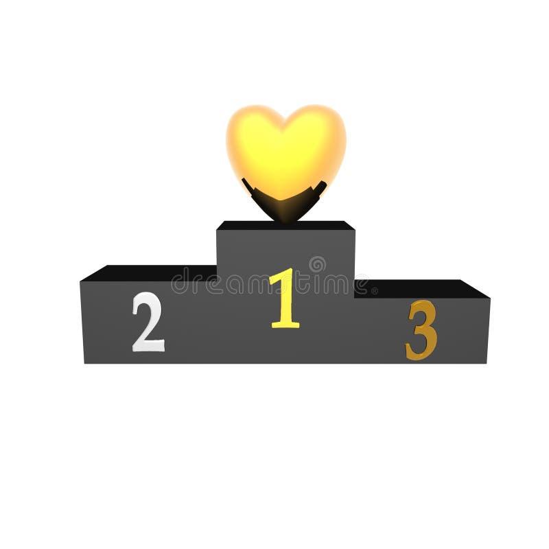 podiume de coeur illustration stock