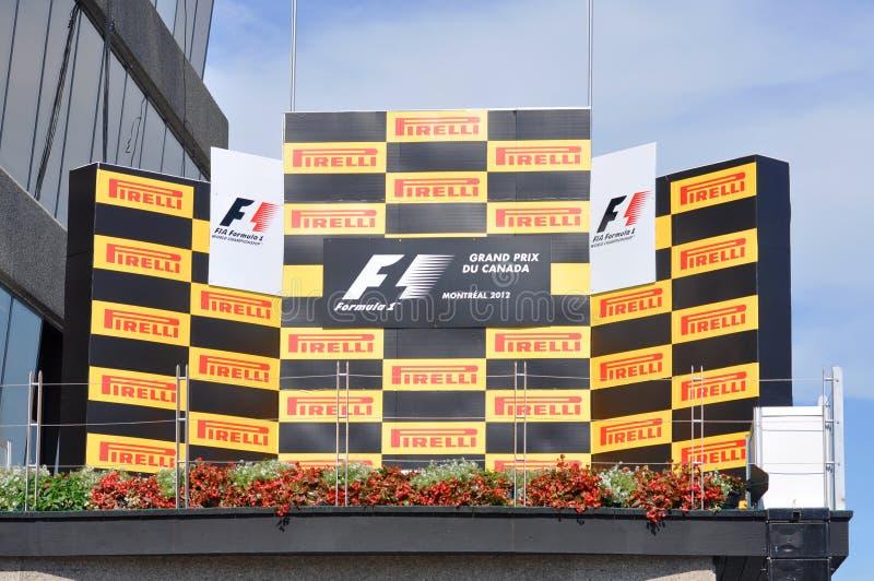 Podiume de Formule 1 photo stock